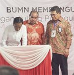 Presiden RI Resmikan Sulawesi Maluku Papua Cable System