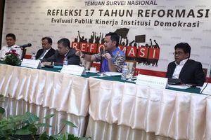 Survei Kinerja Lembaga: KPK Paling Memuaskan, DPR Mengecewakan