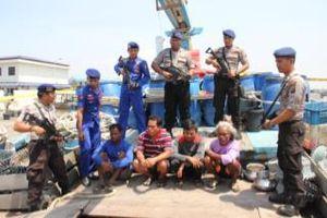 Polair Sumut Tangkap Kapal Pencuri Ikan Berbendera Malaysia