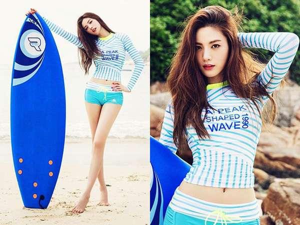 Nana 'After School' Pamer Kaki Jenjang nan Mulus di Pantai