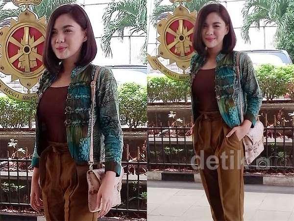 Vicky Shu Sambangi Mabes Polri