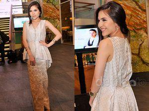 Olivia Jensen Elegan dalam Balutan Dress Songket