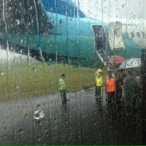 Pesawat Garuda Tergelincir di Makassar karena Cuaca Buruk, Penumpang Selamat