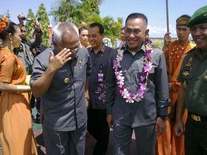 Menhan Ryamizard Tinjau Wilayah Perbatasan Indonesia di Pulau Sebatik