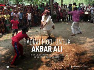Hadiah Modi untuk Akbar Ali