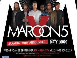 Refund Tiket Maroon 5 Dimulai Hari Ini