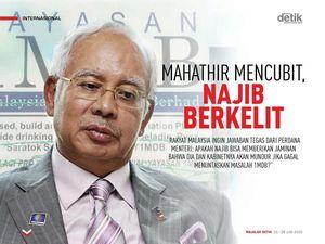 Mahathir Mencubit, Najib Berkelit