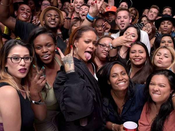 Surprise! Rihanna Culik 80 Fans untuk Nonton Video Klip Terbaru