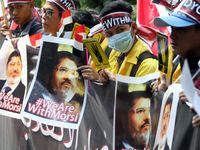 Aksi Tolak Hukuman Mati untuk Mursi