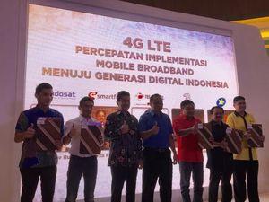 5 Operator Serentak Gelar 4G di Luar Jawa