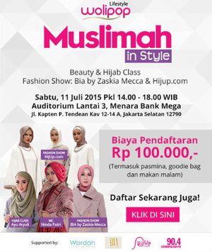 Cantik di Hari Raya dengan Mengikuti Beauty dan Hijab Class Wolipop