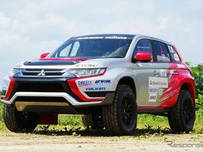 Mobil Listrik Mitsubishi Ikuti Reli Baja
