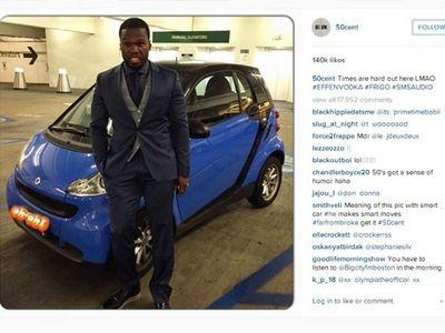 Bangkrut, 50 Cent Kini Naik Mobil smart fortwo