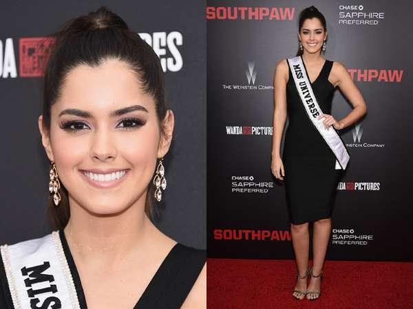 Miss Universe 2014 Paulina Vega Elegan Serba Hitam