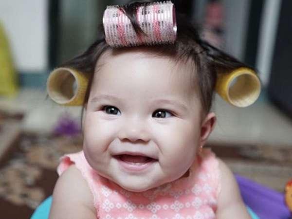 So Cute! Putri Gading-Gisel Menggemaskan Pakai Roll Rambut