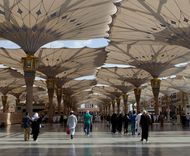 5 Fakta Menarik Payung Raksasa di Masjid Nabawi