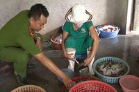 Polisi Vietnam Bongkar Perdagangan Udang Mati yang Disuntik Bahan Kimia