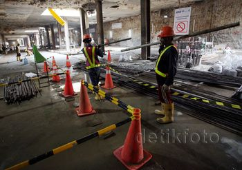 Mengintip Pembangunan Stasiun Bawah Tanah MRT Senayan