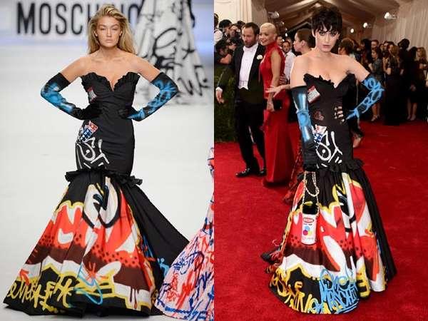 Gigi Hadid vs Katy Perry, Siapa lebih Cocok dengan Gaun ini?