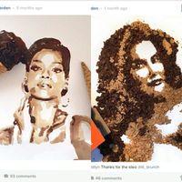 Wajah Rihanna dan Caitlyn Jenner Dilukis dengan Sereal dan Es Krim