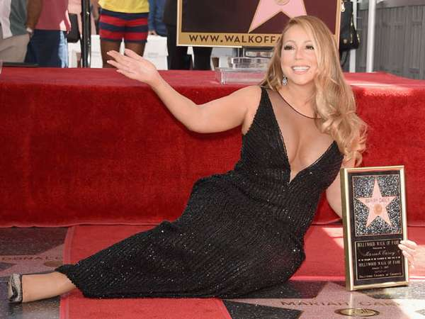 Mariah Carey Seksi dan Glamor di Hollywood Walk of Fame
