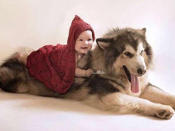 Foto Putri Gading-Gisel dan Anjing Malamut Alaska Ini Gemes Banget!