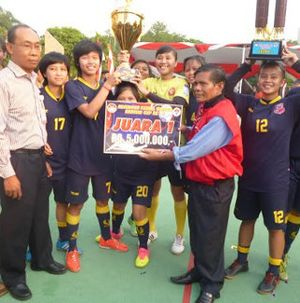 Jaya Kencana Angels Juara Kejurnas Futsal Putri Kartini Cup