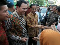Jokowi-Ahok Blusukan ke Jakarta Utara