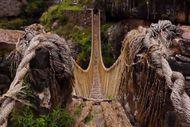 Cuma di Peru, Ada Jembatan dari Rajutan Rumput