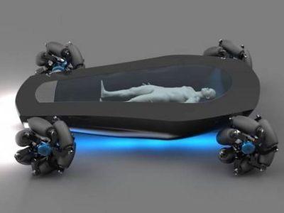 Korbiyor, Mobil Jenazah Bertenaga Listrik dan Berteknologi Otonom