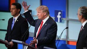 Donald Trump Diserang Lawan dalam Debat Capres