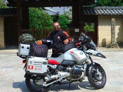 Keliling Dunia Sendirian Naik Motor, Kang JJ Sempat Dikira Gila