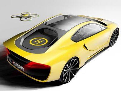 Mobil Sport asal Swiss Ini Punya Drone Sendiri