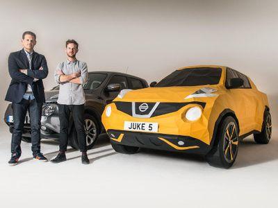 Keren, Replika Mobil Nissan Juke Berukuran Penuh dari Lipatan Kertas