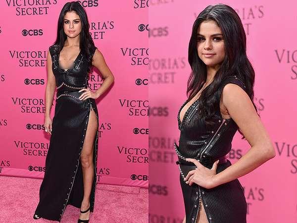 Sexy Alert! Selena Gomez Pamer Paha di Fashion Show Victoria's Secret