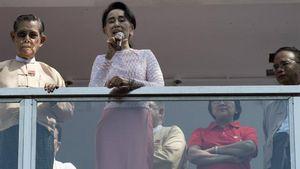 Partai Suu Kyi Dinyatakan Menang Mutlak