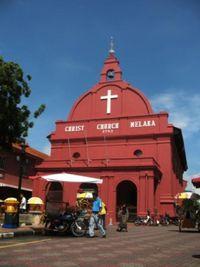 Gereja Merah di Kota Tua Malaysia