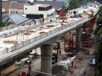 Pembangunan Flyover Permata Hijau Nyaris Rampung