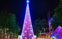 Pohon Natal dengan Lampu Terbanyak Ada di Canberra