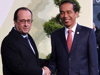 Presiden Prancis dan Sekjen PBB Sambut Jokowi di COP 21