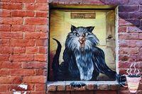 Lorong Keren di AS, Penuh Grafiti Gambar Kucing