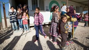 Ribuan Pengungsi Terdampar di Perbatasan Yordania
