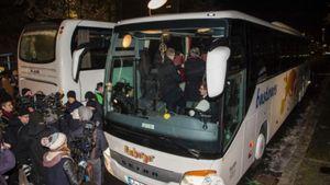 Bus Pengungsi Suriah Dikirim ke Kantor Kanselir Jerman