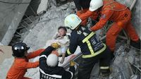 Ratusan Orang Terjebak di Reruntuhan Akibat Gempa Taiwan