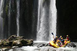 Begini Serunya Rafting di Sungai Pekalen, Jatim