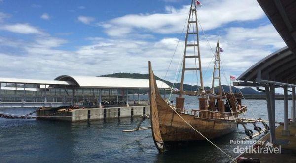 Ketika Kapal 'Spirit Of Majapahit' Tiba Di Kota Toba, Jepang