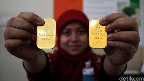Emas Antam Turun Rp 1.000 Jadi Rp 547.000/Gram