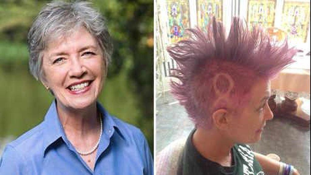 Sebelum Botak karena Kemo, Ibu Ini Minta Rambutnya Di-Mohawk