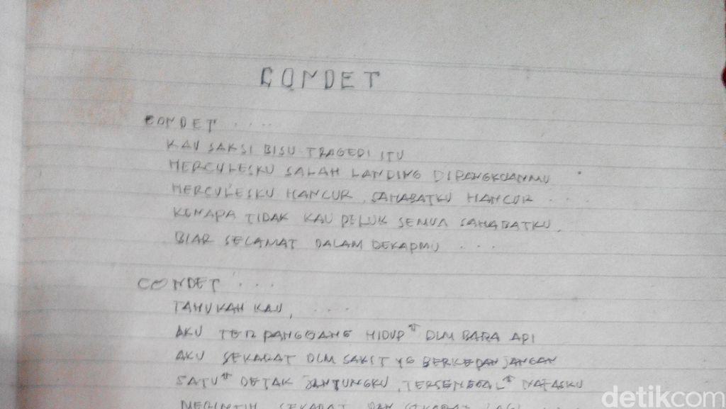 Tersiksa karena Tersisa, Puisi Mengharukan Tragedi Condet Bambang Hercules