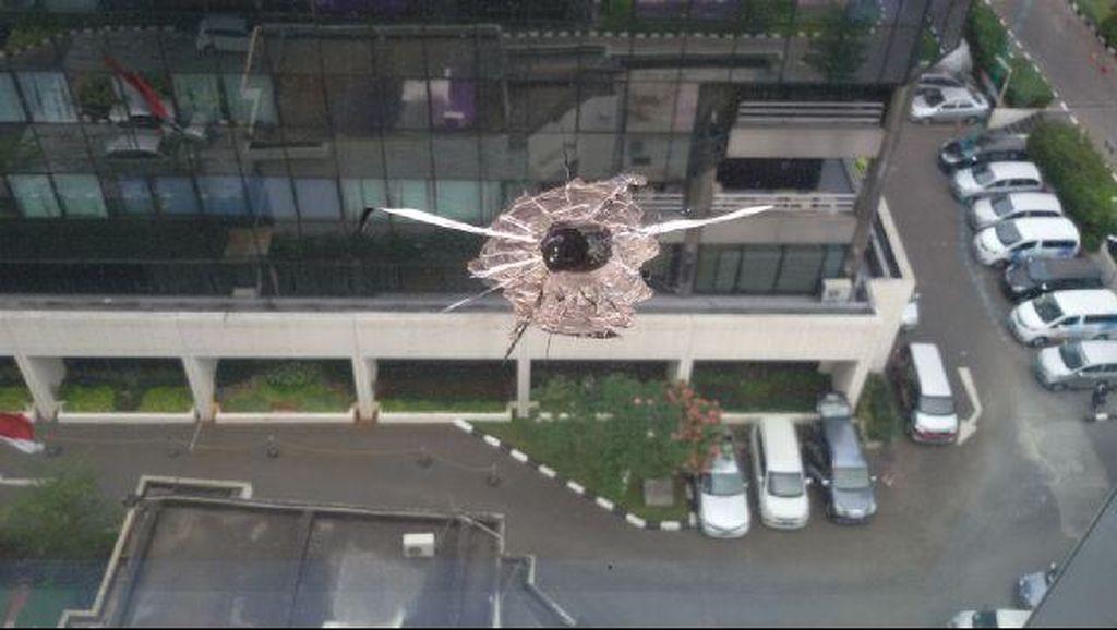Ini Wujud Pecahan Kaca di MNC yang Sempat Diduga Tembakan